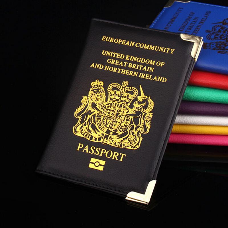 Communauté-européenne-royaume-uni-de-grande-bretagne-britannique-détenteur-d-un-passeport-de-passeport-PU-cuir